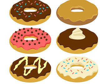 Jelly donut clipart
