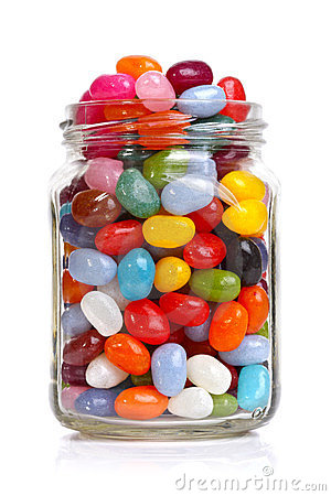 Jellybeans In A Jar Stock Images Image 23382204