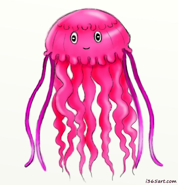 Jellyfish 987x1024 Day 212 Pink Jellyfish