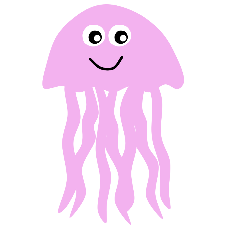 Jellyfish Silhouette - Jelly Fish Clipart