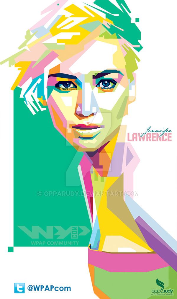 Jennifer Lawrence wpap by opparudy ClipartLook.com