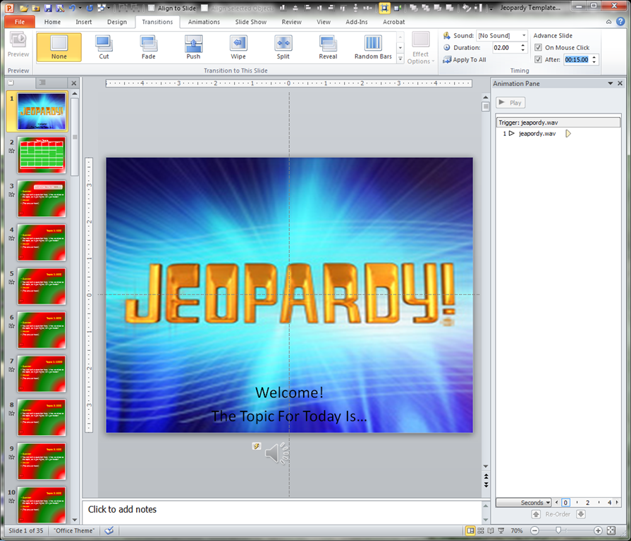 Jeopardy Sound Clip & Look At Clip Art Images