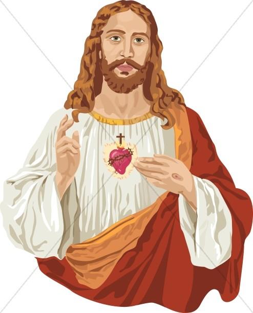Jesus Christ And The Sacred Heart-Jesus Christ and the Sacred Heart-9
