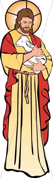 Jesus Holding a Lamb-Jesus Holding a Lamb-11