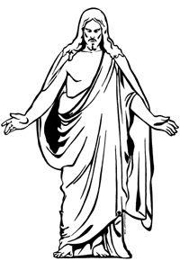 Jesus silhouette clip art .