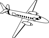 jet clipart black and white - Airplane Clipart Black And White