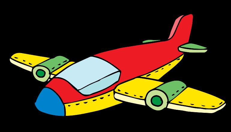 Jet cartoon airplane clipart
