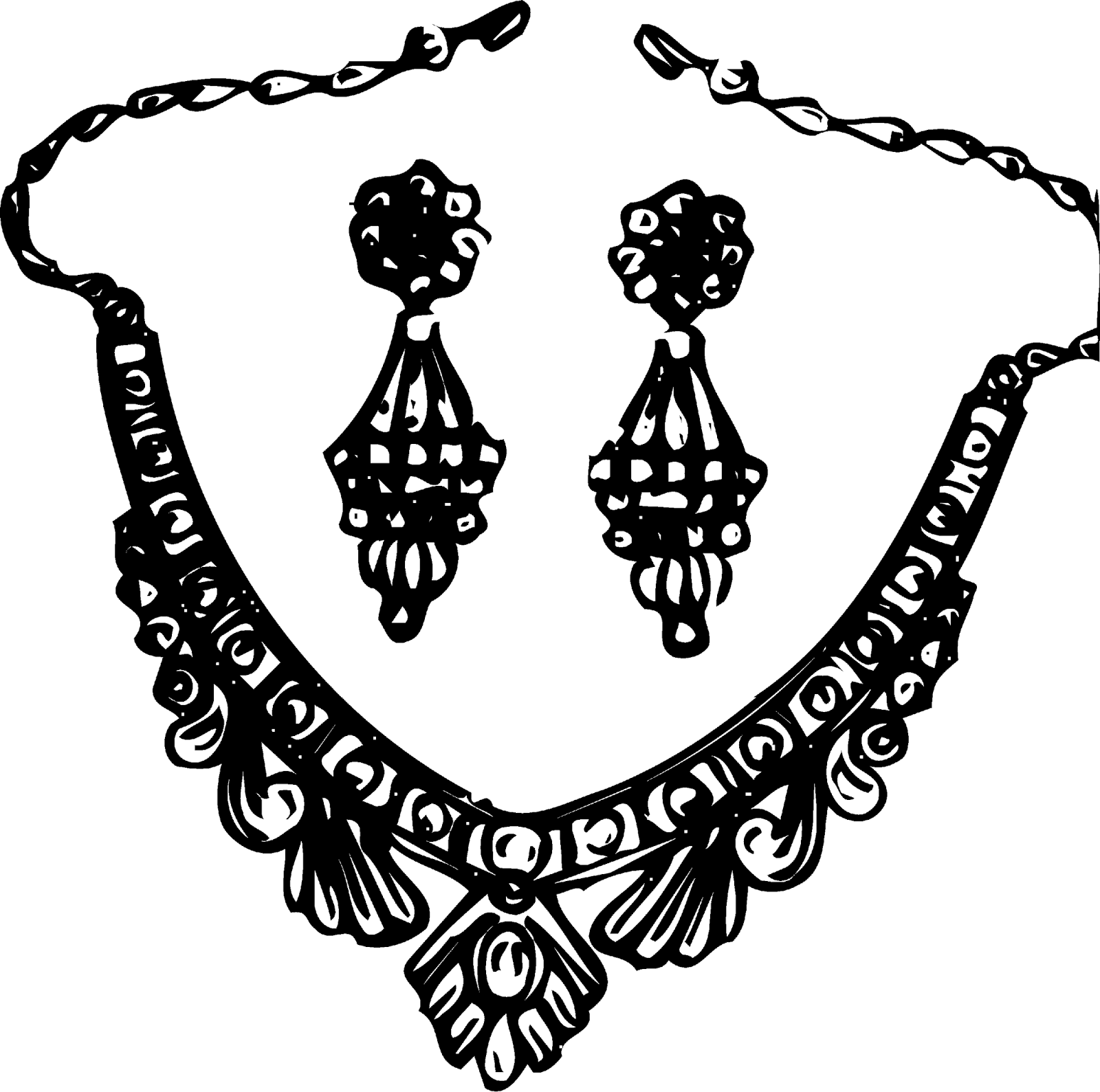 Jewelry clipart black and white - ClipartFest