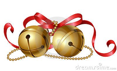 Jingle Bells Clip Art Jingle Bells With Red Bow