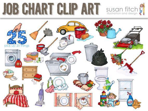 Job Chart Chore Chart Clip Art By SusanF-Job Chart Chore Chart Clip Art by SusanFitchDesign on Etsy-19