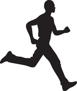 Jogger Clipart Image Man Running Silhouette