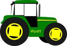 john deere green tractor clipart
