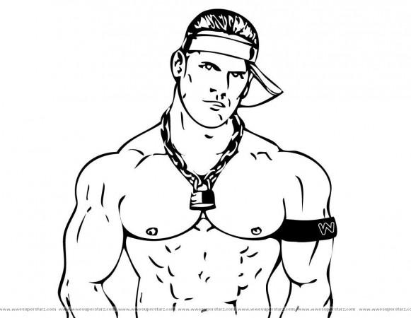 John Cena Wrestling Clipart #1