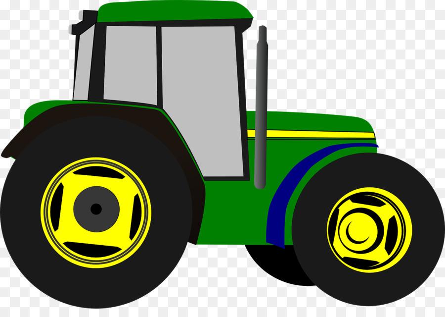 John Deere Tractor Agriculture Clip art - tractor