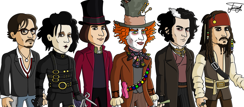 Johnny Depp Clipart-Clipartlook.com-850