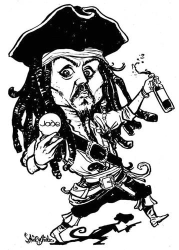 Cartoon: Johnny Depp (medium) by stiegli-Cartoon: Johnny Depp (medium) by stieglitz tagged johnny,depp,karikatur,-16