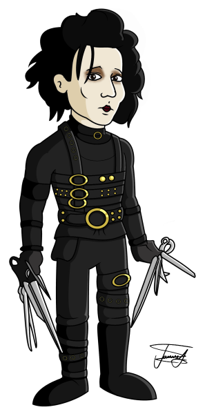 edward-scissorhands-cartoon-caricature