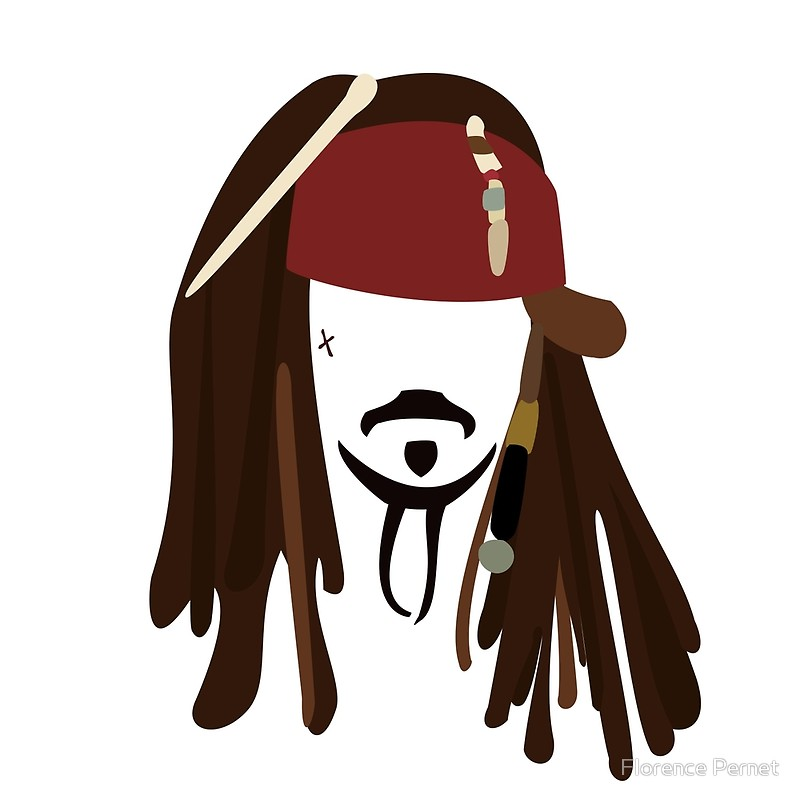 Jack Sparrow - Johnny Depp - Pirate of t-Jack Sparrow - Johnny Depp - Pirate of the Caribbean by Florence Pernet-6