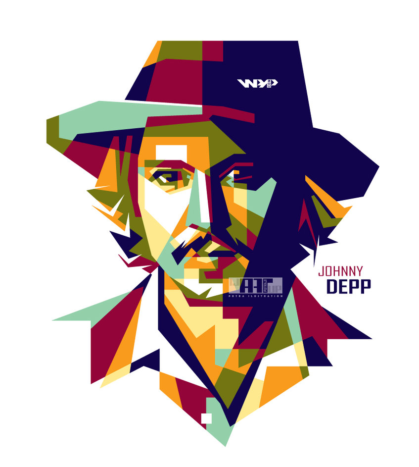 Johnny Depp in wpap by ijARTuP ClipartLook.com