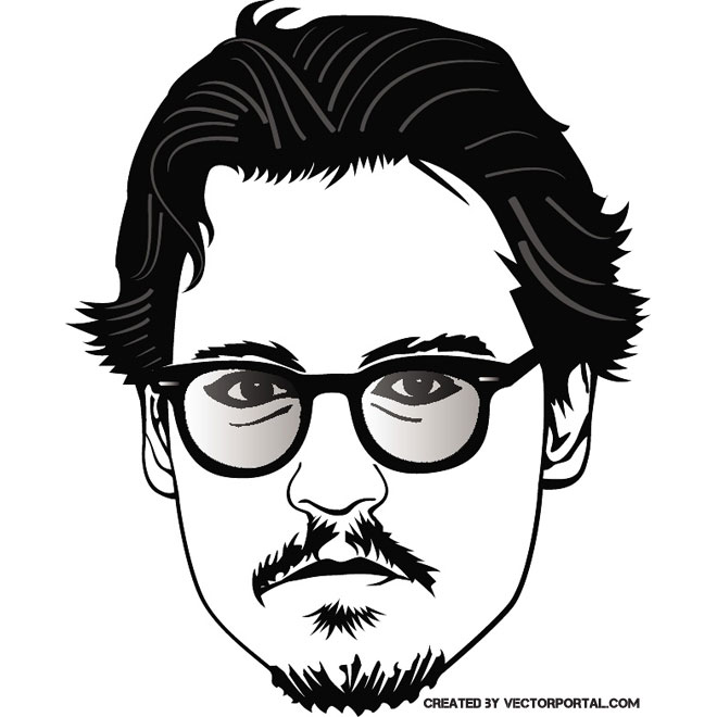 JOHNNY DEPP VECTOR PORTRAIT