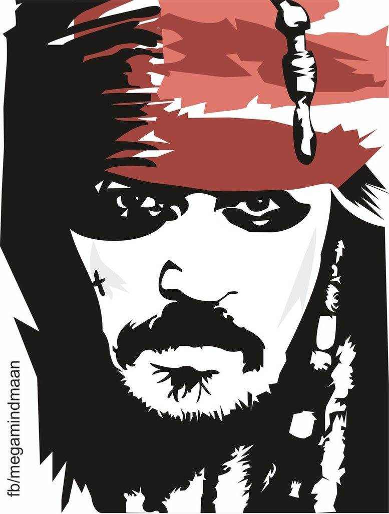 Low Res Vector Art ~Johnny Depp~ by megamindmaan ClipartLook.com