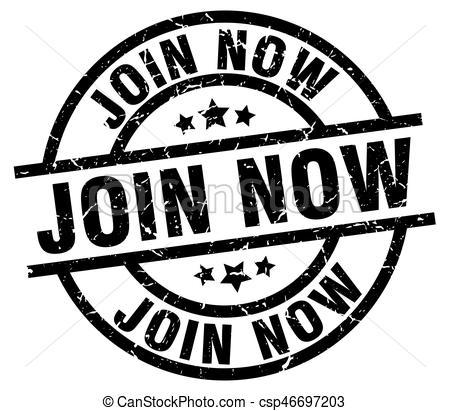 join now round grunge black stamp - csp46697203