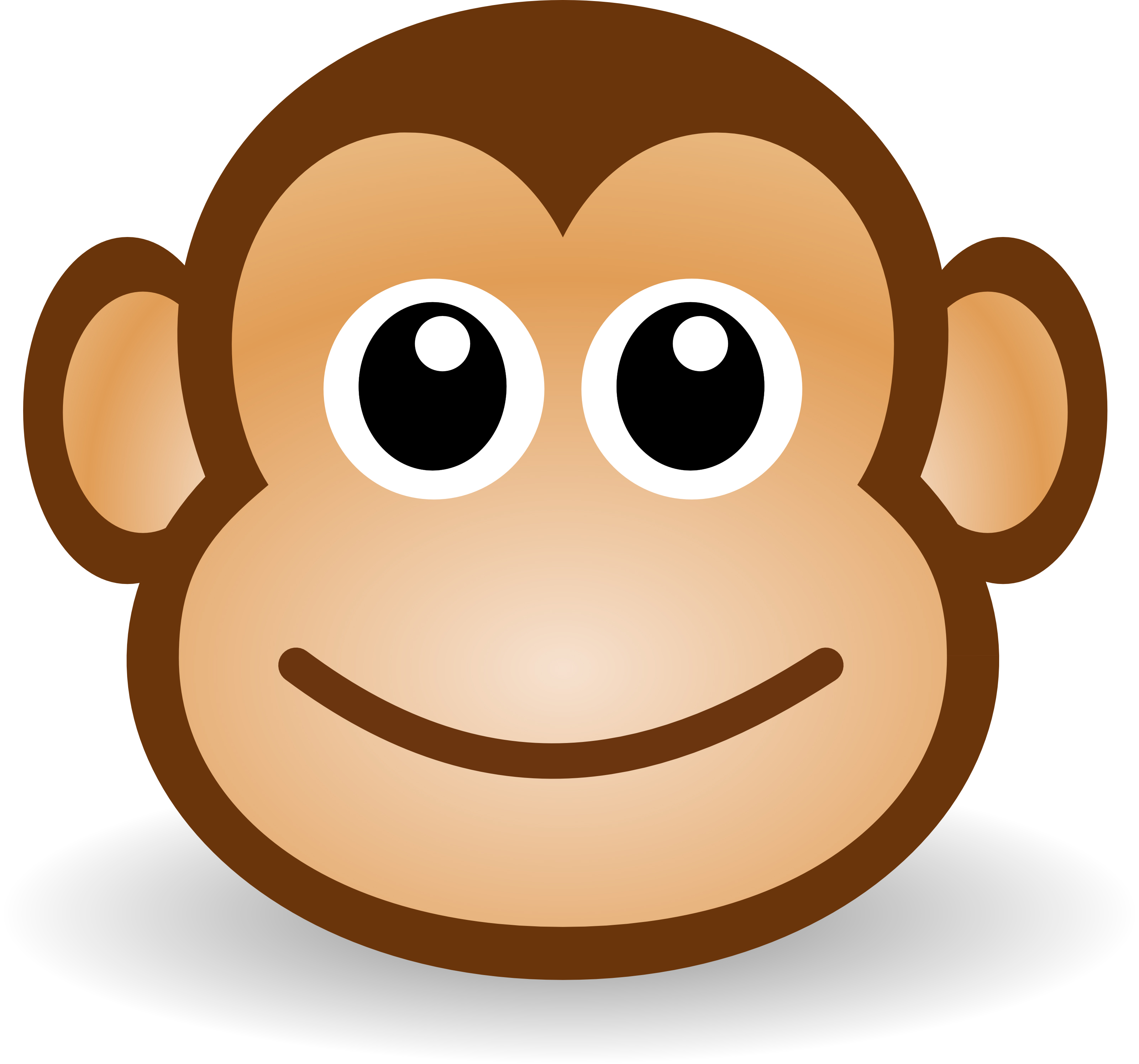 .jpg, .png, .svg,. Free Cute Cartoon Mon-.jpg, .png, .svg,. Free Cute Cartoon Monkey Clipart Illustration-16