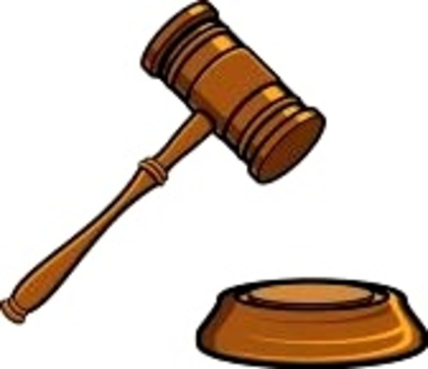 Judge In Court Clipart