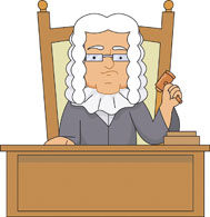 judge in courtroom. Size: 95 Kb