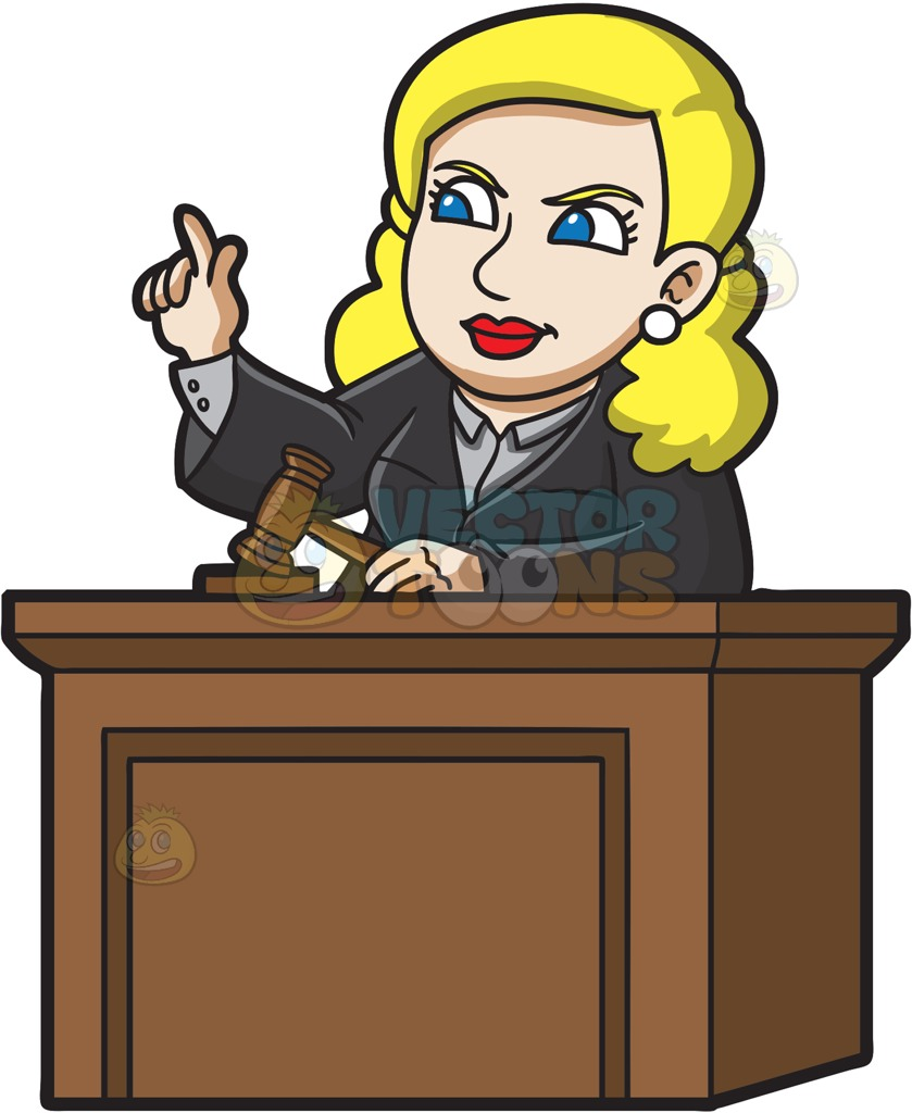 Judge Pictures Clip Art. A female judge ordering the .