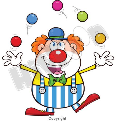 Clip art · Happy Clown Juggling