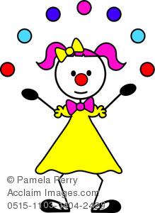 Clip Art Image of a Female Stick Figure -Clip Art Image of a Female Stick Figure Clown Juggling-18