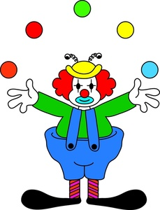 Juggling Clipart Image: Clown Juggling
