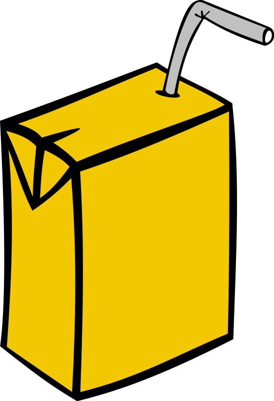 Juice Box Clipart #1