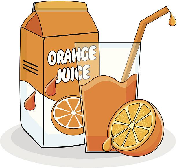 Orange Juice vector art illus - Juice Clipart