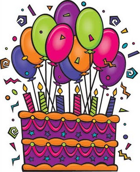 July 1 Birthday Clipart