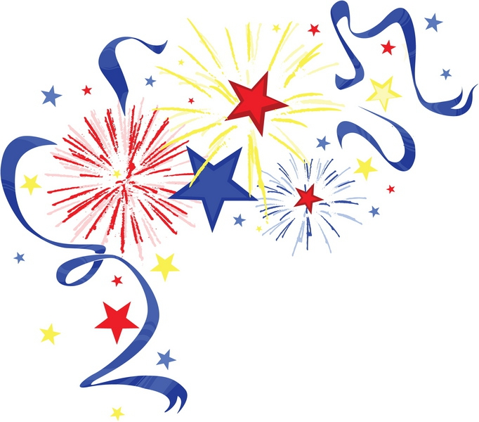 July Fireworks Free Clipart