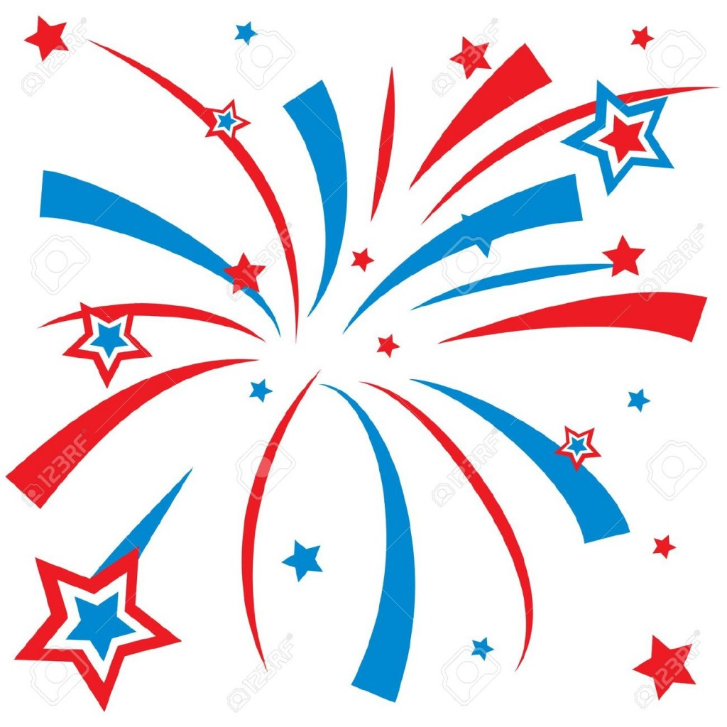 Moving fireworks clipart