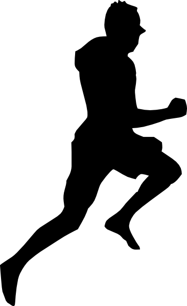 Jumping Dancing Silhouette Running clip art - vector clip art