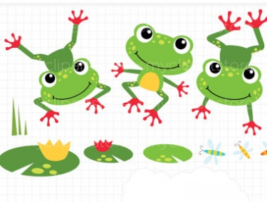 Jumping frog clipart - Clip Art Frogs