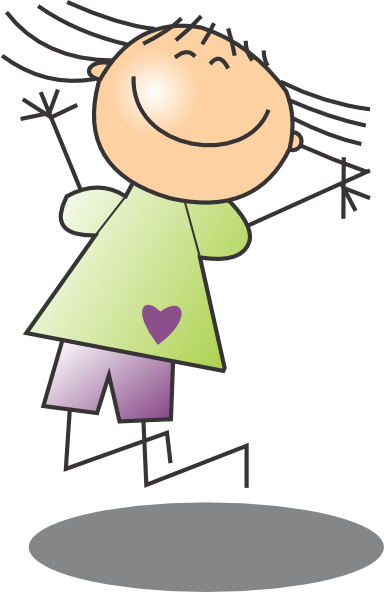 Jumping Girl 2 Clip Art At Clker Com Vector Clip Art Online Royalty