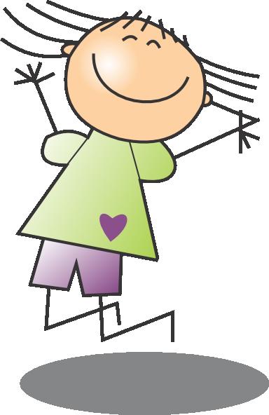 Jumping Girl 2 Clip Art At Clker Com Vector Clip Art Online Royalty