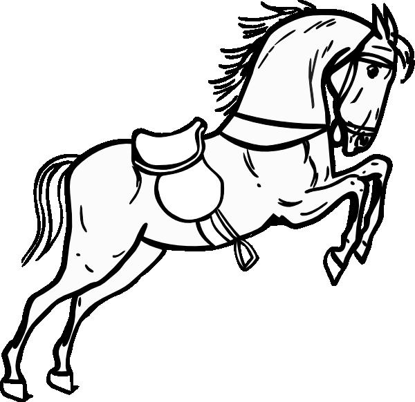 Jumping Horse Outline Clip Art At Clker Com Vector Clip Art Online