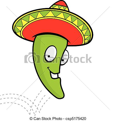 Jumping Jalapeno - A cartoon smiling jalapeno with a.