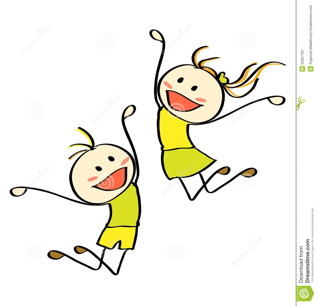 Jumping Kids Royalty Free .-Jumping Kids Royalty Free .-12
