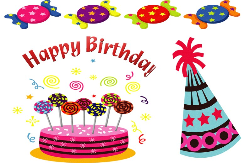 June Birthday Clipart Happy B - Free Happy Birthday Clipart