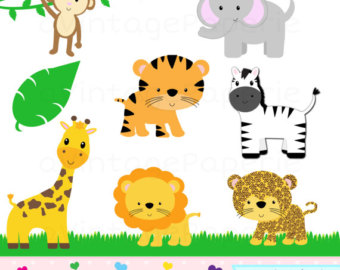 Jungle Animal Clipart - Jungle Animal Cl-Jungle animal clipart - Jungle Animal Clip Art - Zoo animal clipart - Safari animal clip art - Safari animal clipart-7