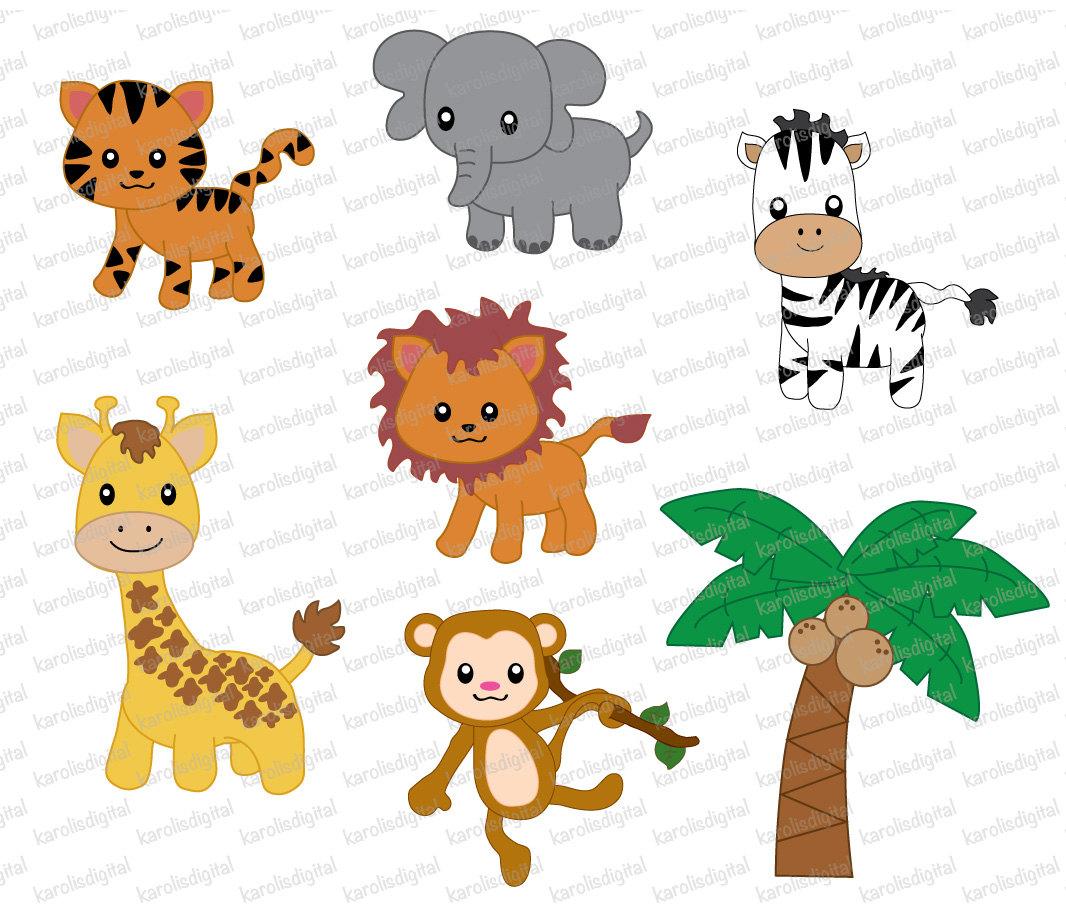 Jungle Animals 7 Digital Clip Art Set By Karolisdigital On Etsy