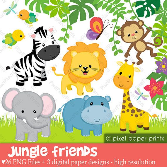 Jungle Animals Clipart Baby .