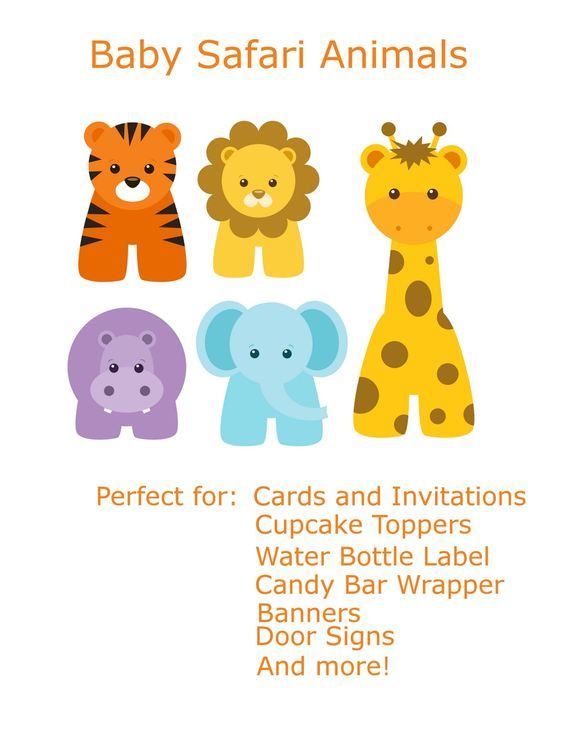Jungle Baby Animal Clip Art ... - get free, high quality clipart safari baby on